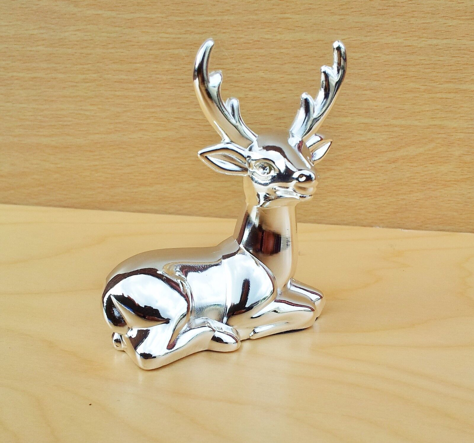 Stag Jewellery Ring Holder Metal Silver Finish Organiser Stand ...