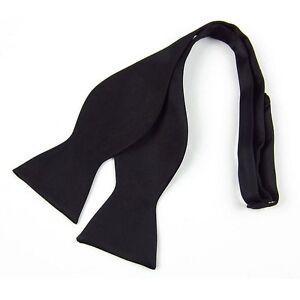 Men-039-s-New-Black-Fashion-Adjustable-Multi-Color-Silky-Self-Bow-Tie-Necktie-Ties