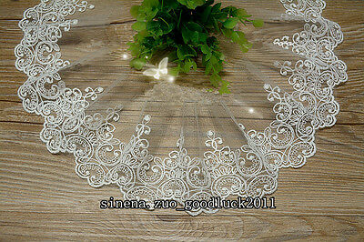 1 yards, Tulle Lace Trim Ribbon Appliques Embroidered Handicrafts Sewing FL166