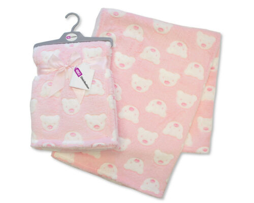 E/&A Baby Girl Boy Unisex Soft Fleece Printed Baby Blanket 0 Teddy Month