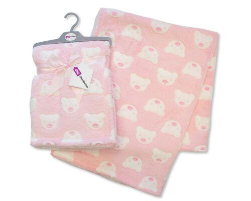 E/&A Baby Girl Boy Unisex Soft Fleece Printed Baby Blanket 0 Teddy Month
