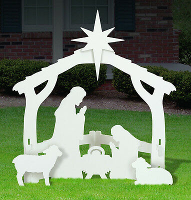 new outdoor nativity scene baby jesus nativity scene yard display - Christian Outdoor Christmas Decorations