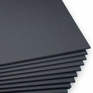 A3 Black 5mm Foamboard 420mm x 297mm pack of 12.