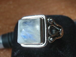 Elegant Lapis Square Ring 925 Sterling Silver Solid and Heavy Sz 6.5 to 9