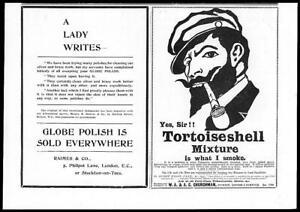1899-Antique-Print-Advertisement-Glebe-Polish-Tortoiseshell-Mixture-Tobacco-75