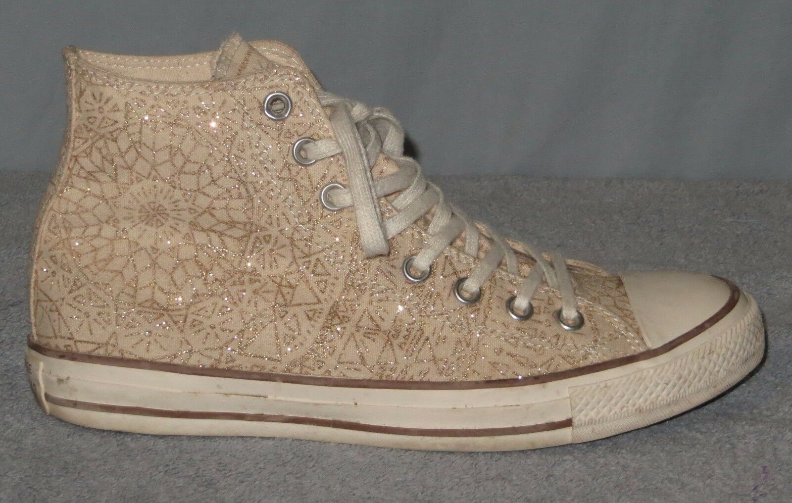 Damenschuhe Converse Größe 10 Sparkle Chuck Taylor All Star Sparkle 10 Hi 532135C Laced Canvas 5eabf3