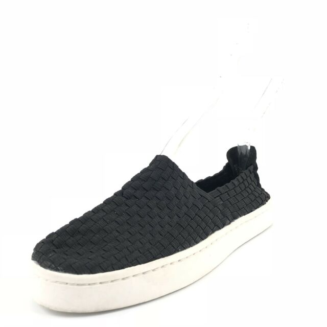 3da82d16bbd Steve Madden Exx Black Woven Slip On Sneaker Loafers Women s Size 6.5 M 0005