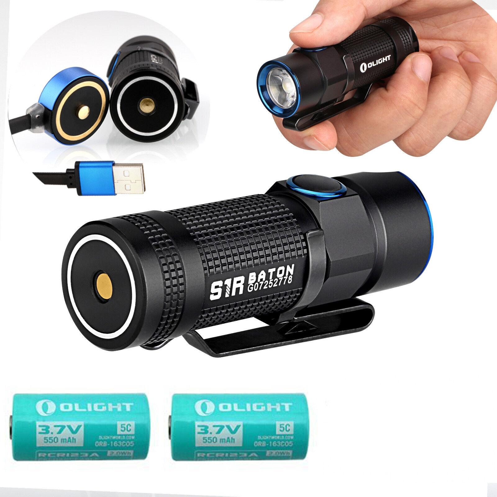 Olight S1R Baton 900Lumen USB Rechargeable  LED Flashlight Two RCR123 5C Battery  hottest new styles
