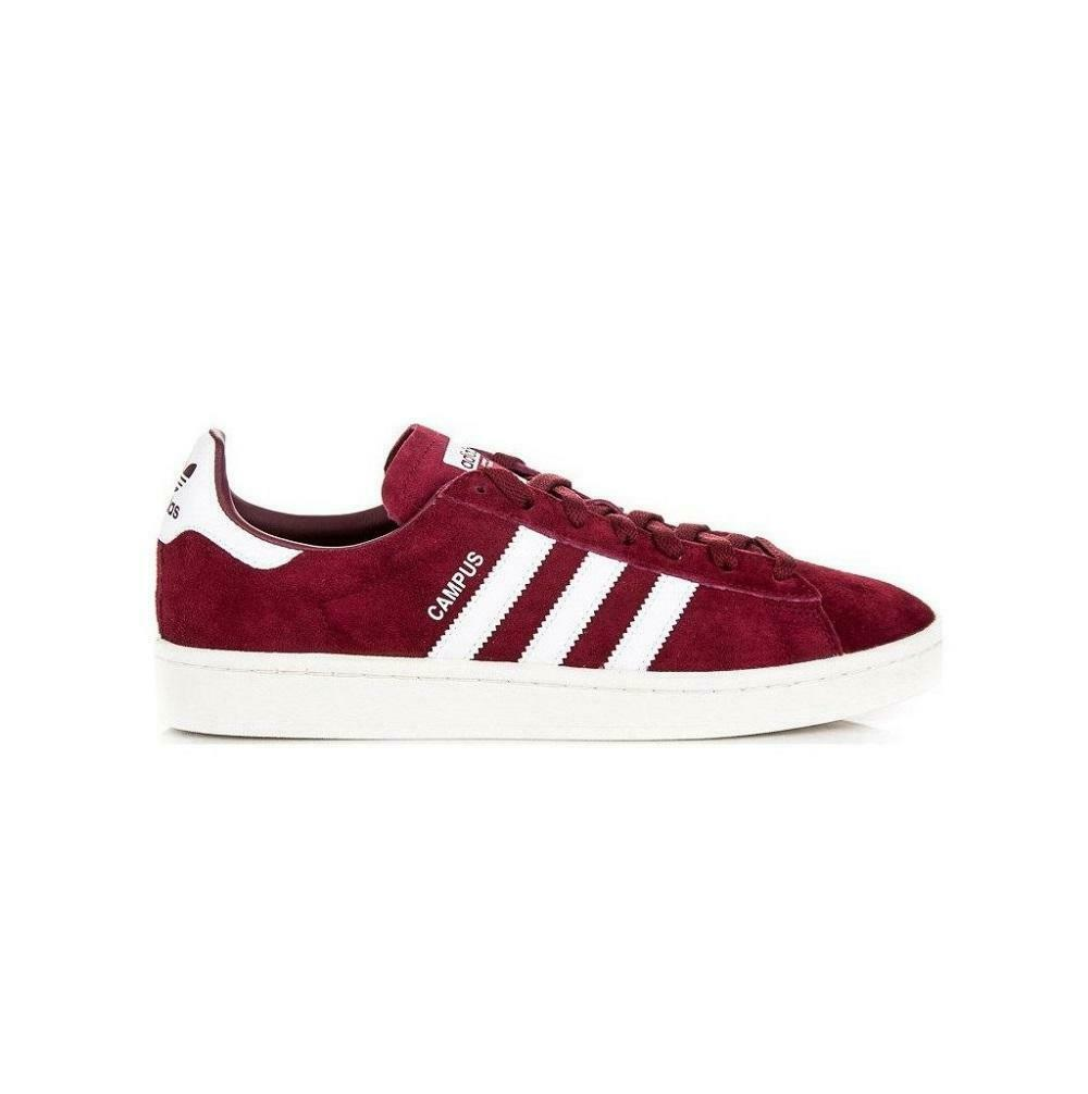 Mens ADIDAS CAMPUS Burgundy Red Suede Trainers BZ0087