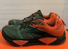 043c8bad27717 Brooks Cascadia 12 Green Orange Men s Size 8.5 D Hiking Trail Running Shoes