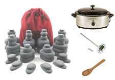 MassageMaster HOT STONE MASSAGE KIT: 54 Basalt Stones + 6.5 Quart Stone Heater