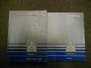 1990-MITSUBISHI-Sigma-V6-Service-Repair-Shop-Manual-2-Volume-SET-OEM-BOOK-90