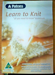 Patons-Knitting-Pattern-Learn-To-Knit-Book-No-1249