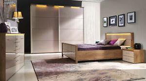 Details zu Design Luxus Schlafzimmer Set Stilmöbel Edelholz Komplett Beige  Eiche SL34 NEU!