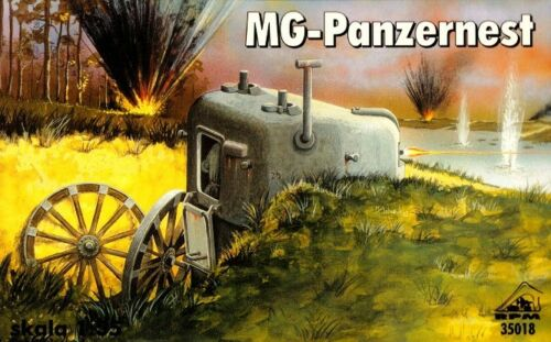 MACHINE GUN PIL BOX 1//35 RPM PANZERNEST MIT MG 34 WW II GERMAN MOBILE BUNKER