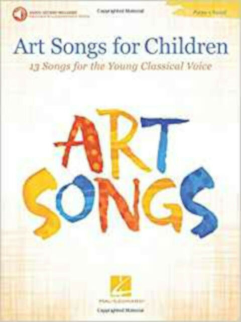 Art Songs for Children 13 Songs Young Classical Voice/Piano Book/Audio, New, Hal