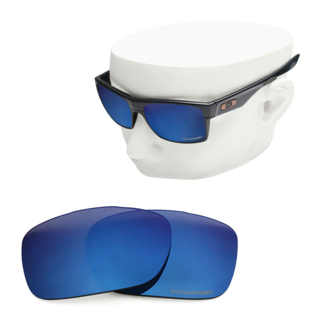 a7fca943f38 OOWLIT Replacement Sunglass Lenses for-Oakley Twoface OO9189 POLARIZED  Sapphire