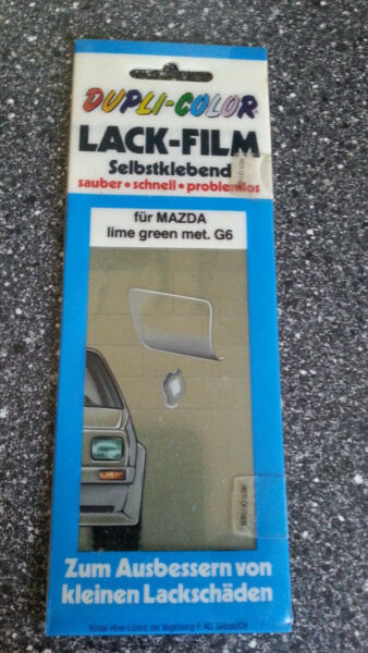 Dupli Color Car Kfz Autolack Film Selbstkl. ???? Mazda Lime Green Met. G6 Om Hinder Uit De Weg Te Ruimen En De Dorst Te Lessen