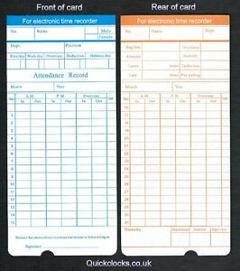 image is loading monthly time cards clocking clock cards for electronic - Electronic Time Card