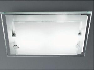 Plafoniere In Vetro Satinato : Plafoniera a soffitto per interni tonda in vetro satinato e ganci