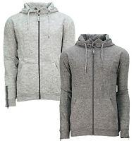 Soul Star Zip Hoodie Men's Fleece Sweatshirt Hooded Top Elwood Mid Grey Charcoal