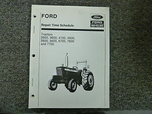 ford 7700 7600 6700 6600 5600 4600 tractor service repair time rh ebay com ford 7700 owners manual ford 7700 service manual