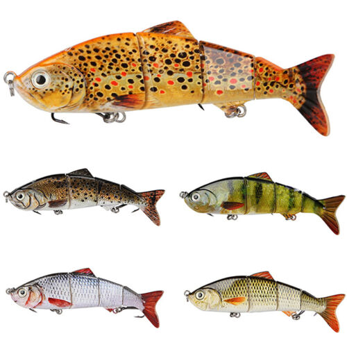 Fishing Fish Lures Baits Bass Crankbait Swimbait Jointed Pike Trout Tackle W4I6