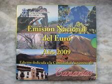 SPAGNA 2009  DIVISIONALE 8 MONETE FDC CANARIE  BU SET SPAIN SPANIEN ESPAÑA