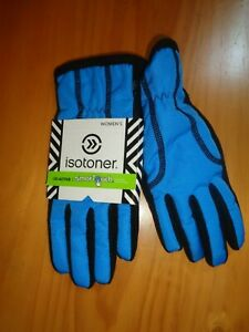 ISOTONER-BLACK-DYNASTY-BLUE-ACTIVE-SMARTOUCH-WOMEN-039-S-GLOVES-NWT-XS-S-M