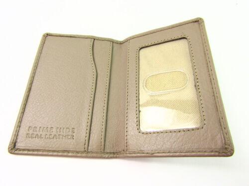 Ladies Mens Premium Super Soft Leather Credit Card ID Holder Travel Card