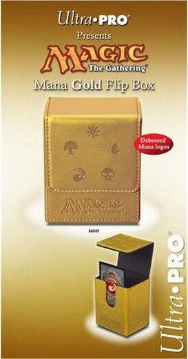 MAGIC Mana Flip Box Gold Oro Deck Box MTG Ultra Pro