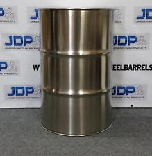55 Gallon Stainless Steel Barrel Drum Closed Top 12mm Thick New