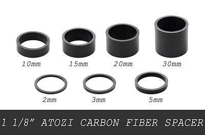 Carbon Fiber 3//5//10//15//20//30mm Spacer For Stem Bike Bicycle Headset Washer