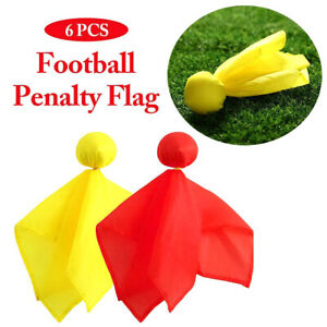 6Pcs-Football-Penalty-Flag-Football-Referee-Tossing-Flag-Props-Party