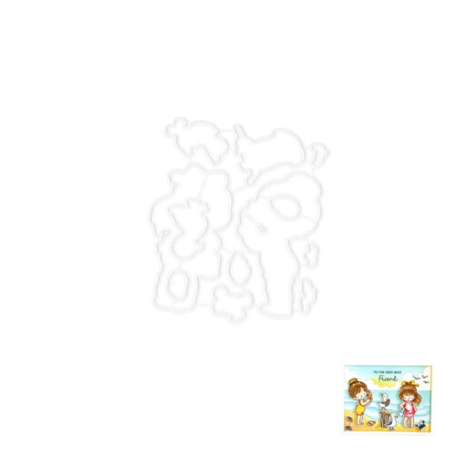 Girl Metal Cutting Dies and Clear Stamps Stencil DIY Scrapbooking Paper Craft