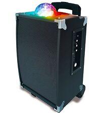 Sharper Image Sbt1001wh Bluetooth Tower Speaker With Lights Fm Radio
