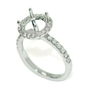 Halo-Engagement-Ring-Setting-For-8-0-mm-Round-Cut-With-0-45-TCW-Diamond-Accents