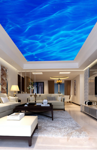 3D-Blue-Drift-Sky-80-Ceiling-WallPaper-Murals-Wall-Print-Decal-Deco-AJ-WALLPAPER