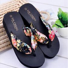 aec9eb63b518 item 4 Women Summer Wedge Platform Thong Flip Flops Sandals Beach Floral Slippers  Shoes -Women Summer Wedge Platform Thong Flip Flops Sandals Beach Floral ...