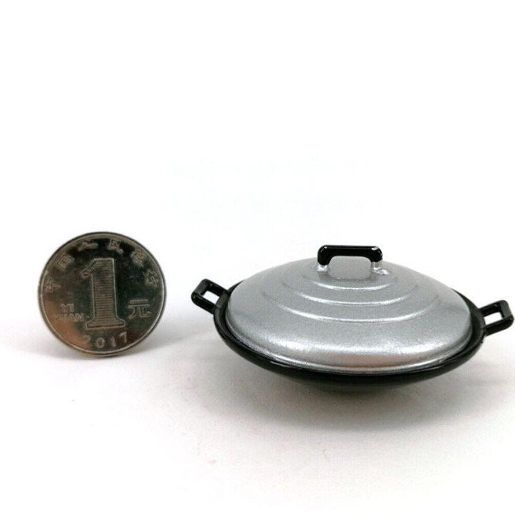 1:12 Dollhouse Miniature Furniture Kitchen Garden Cooking Pot Cover 2Pcs Set ♫
