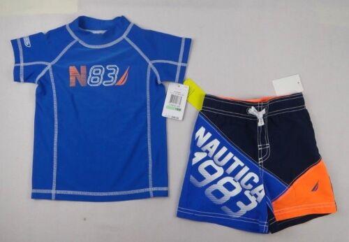 Baby Boys 2-Piece Rash Guard /& Board Shorts 18 months Nautica Baby Set 12