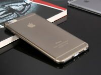 Ultra Thin Slim Transparent Black Back Case Cover Skin for Apple iPhone 6 Plus