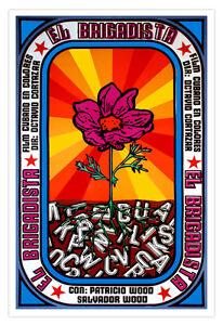 Cuban-decor-Graphic-Design-movie-Poster-4-film-el-BRIGADISTA-Flower-CUBA-art