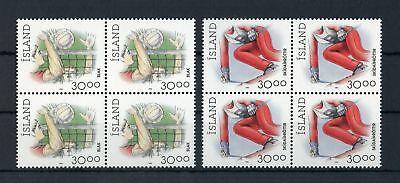 !!! 116565 SchöN Island Nr.760-761 ** Viererblocksatz Sport 1992 Me 10,-+ Elegant Im Stil