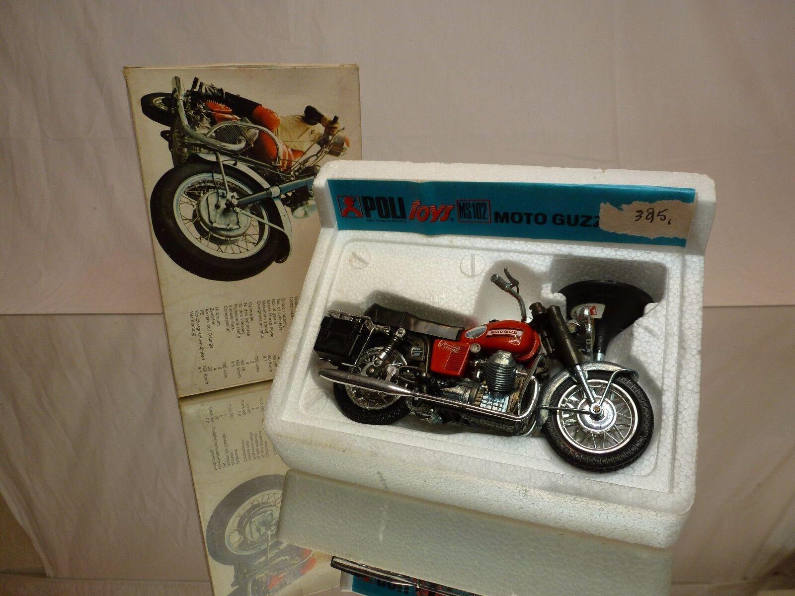 POLISTIL POLITOYS MS102 MOTO GUZZI V7 SPECIAL - rosso 1 15 - GOOD CONDITION IN BOX