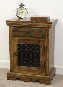 Image Is Loading Mercers Furniture Indian Jali Bedside Cabinet Side Table