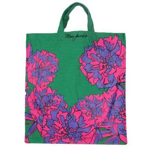 d305447938 Marc by Marc Jacobs Canvas Floral Flower Print Tote Shoulder Bag Pink Green  for sale online