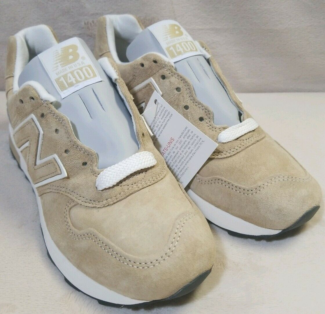New Balance 1400 Classic Running shoes Beige Khaki Brown Suede USA  M1400BE SZ 7