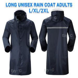 Men-039-s-Overalls-Waterproof-Raincoat-Lightweight-Work-Hooded-Long-Coats-RAIN-COAT