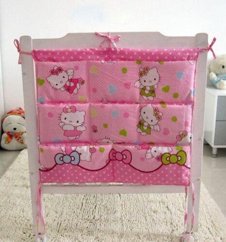 Cartoon Rooms Nursery Hanging Storage Bag Baby Cot Bed Crib Organizer Toy Pocket